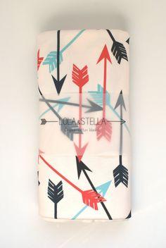 Organic Baby Blanket In Arrow Print, Organic Crib Blanket, Organic Swaddling…