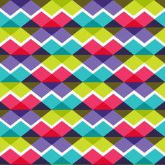 Colourful triangular waves