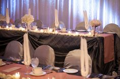 Anne Francis, Silver Weddings, Wedding Decorations, Table Decorations, Event Planning, Linens, Wedding Events, Wedding Planner, Backdrops