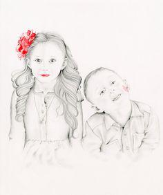 Custom Portrait Personalized Kids Portrait Hand by ABitofWhimsyArt