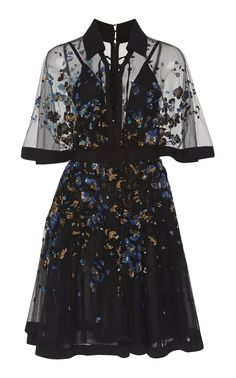 shop elie saab embroidered bell sleeve mini dress floral starting at 7450 si - Life ideas Mode Outfits, Dress Outfits, Fall Outfits, Dress Up, Fashion Dresses, Pretty Outfits, Pretty Dresses, Beautiful Dresses, Mini Dresses