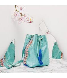 a19106549a33 Collection  Rollande avec de magnifique  cuirs et  couleurs pour tout votre  été !  sac  paris  pochette Mon Préféré   l Aqua !  baluchon  leather  bag   mode ...