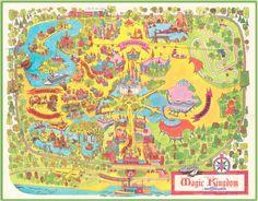 40th Anniversary Commemorative Map of Magic Kingdom Park at Walt Disney World <a href=