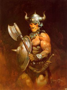 Frank Frazetta Paintings, Art, Pictures, Gallery, frank_frazetta_warrior