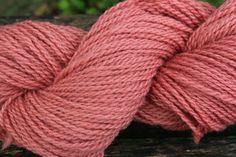 Rose Hand dyed blended lambs wool by FibahForEwe on Etsy, $12.00