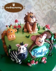 Jungle themed 1st anniversary - by mnhammy @ CakesDecor.com - cake decorating website