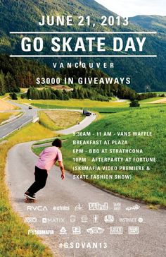 GO SKATE DAY VANCOUVER 2013 (JUNE 21st) #emerica #vancouver