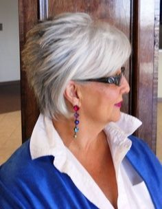 short+hair+styles+for+women+over+50+gray+hair | The Silver Fox, Stunning Gray Hair Styles For 2013 ...for my older ...