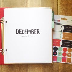 Oh hello 5 week planner pages! You make my December Memories 2015 project that much more fun! @liztamanaha #decembermemories #gbsneaks