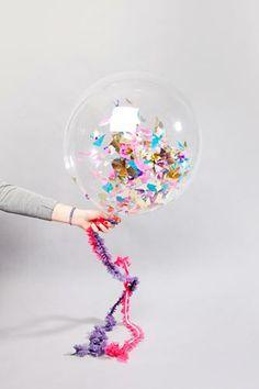 Confetti filled balloon