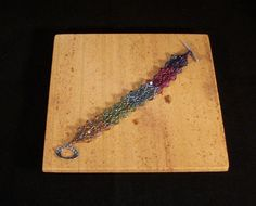 Mulitcolored Swarovski crystal beaded bracelet by Violetspassions, $59.00