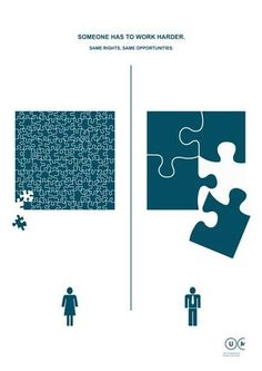 71 brilliant and inspirational ads that will change the way you think Use simple design concepts to illustrate big differences. This series of posters from Manifest Utilità creates symbolic simple images with clean line design to represent gender equality Clever Advertising, Advertising Campaign, Advertising Design, School Advertising, Advertising Poster, Gender Equality Poster, Poema Visual, Graphisches Design, Design Concepts
