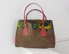 Brown Ankara Large Bag by Florieks on Etsy