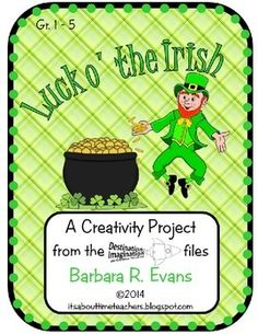 FREE activity to promote creative thinking. #StPatsDay #holidays #creativethinking #HOTS #Gifted #enrichment #BarbEvans #itsabouttimeteachers