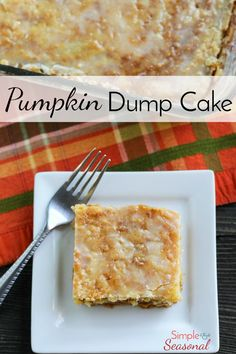Pumpkin Dump Cake: e