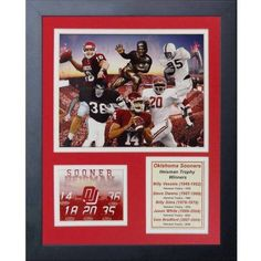 Legends Never Die Oklahoma Sooners Heisman Trophy Winners Collage, 11-Inch by 14-Inch Framed Photo Collage, 11 inch x 14 inch