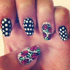 Betsey Johnson inspired nails :)