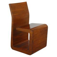 Walnut Chair by Ladislav Czernek USA Contemporary