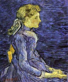 Vincent van Gogh, Portrait of Adeline Ravoux (Half-Figure) on ArtStack #vincent-van-gogh #art
