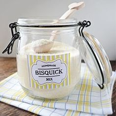 Homemade Bisquick Mix recipe ...for gift basket w/syrup spatula jellies dish towel etc