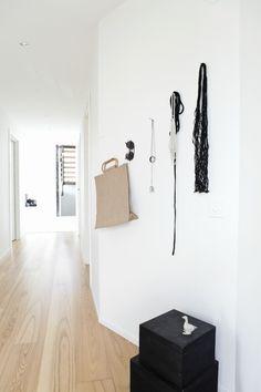 hallway idea ++ via @Jennifer Hagler . via ANNALEENAS HEM