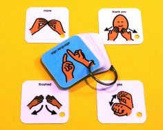 Many children with Autism or other developmental delays benefit from the use of sign language. Sign language is another type of visual aid that helps stimulate the communication centers of the brain. Thank You Sign Language, Sign Language Basics, Sign Language Phrases, Sign Language Interpreter, Learn Sign Language, Language Lessons, Sign Language For Toddlers, British Sign Language, Asl Signs