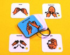 Sign Language Basics Communication Keyring - ASL - Autism