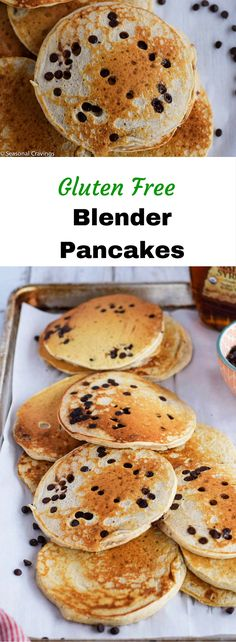 These Gluten Free Blender Pancakes are shortcut heaven!  Using Pamela's Pancake Mix makes them super easy to whip up, healthy and kid friendly.