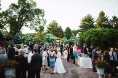 Cocktail hour on the Garden Terrace Photo Credit: West Chester, PA Photographer - Siousca Photography #brandywinemanorhouse #chestercounty #philadelphiawedding