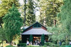 Forest wedding ceremony at Nestldown private retreat, Santa Cruz mountains // Lindsey and Tyson's Woody Wedding