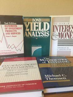 Investment, Bonds, Taxes, Money Lot of 5 Vintage Books