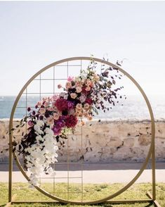 Dreamcatcher beach front ceremony inspiration - @lamoredesign #wedding #ceremony #backdrop #decor #florals
