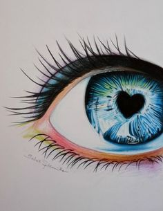 Colored pencil eye drawing by BarbieSpitzmuller.deviantart.com on @deviantART