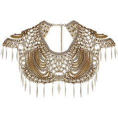 cream pearl crochet collar necklace - necklaces / collars - jewellery - women - River Island