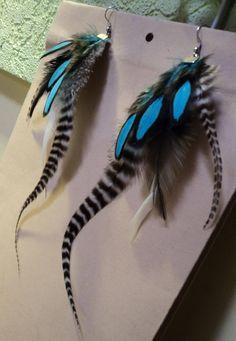 Feather earrings by Tollju on Etsy