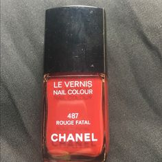 Chanel Nail Polish Rouge Fatal Like New! Swatched on one finger. Sold with box. CHANEL Makeup