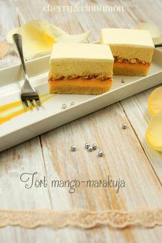 Passion Fruit Cake, Mango, Cinnamon, Cheesecake, Cherry, Sweets, Baking, Recipes, Food