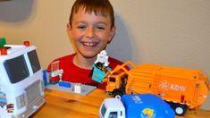Garbage Truck Videos For Children l Trash Can Too Big For Trash Truck Pi...