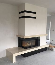 kominek nowoczesny nowoczesna obudowa kominkowa n105 Modern Fireplace, Fireplace Design, Pizza Oven Fireplace, Escape Room, Beauty Room, Layout Design, Decoration, House Design, Living Room