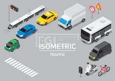 ILL193, 프리진, 일러스트, 프레임, 교통, 아이소메트릭, 그래픽, 입체, 오브젝트, 웹활용소스, 면, 다양한, 일러스트, 육면체, 3D, 도형, 컨셉, 테마, 주제, 레이아웃, 탈것, 차, 대형차, 소형차, 자가용, 경차, 버스, 대형, 관광버스, 택시, 기차, 전철, 지하철, 오토바이, 스쿠터, 자전거, 헬멧, 도로, 신호등, 횡단보도, 도보, 표지판, 경고판, 트럭, 운송, 운반, 빨간, 빨강, 흰색, 회색, 파란, 푸른, 파랑, 녹색, 초록, 노랑, 검정, 무채색, 단면, #유토이미지