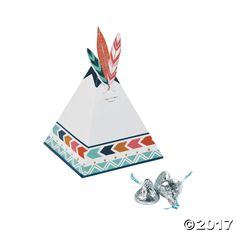 Tribal Baby Shower Favor Boxes. Teepee baby shower favor box