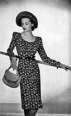 Print dress, 1944.