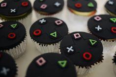 13th Birthday Parties, Birthday Games, Birthday Party Themes, Kid Cupcakes, Birthday Cupcakes, Cupcake Cakes, Torta Baby Shower, Ps4 Cake, Bolo Neon