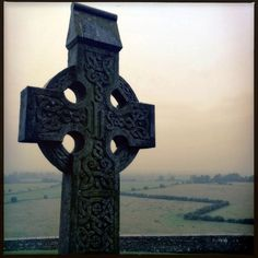 High cross at the Rock of Cashel. Co. Tipperary, Ireland.