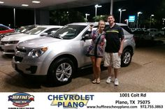 I met Pamela less than 48 hours ago. Now, we are walking out with our brand new Equinox! This was our first time purchasing a new car and Pamela made it an enjoyable, educational experience. We came in looking to lease. All of the staff at Huffines have been wonderful. But, just wait until the end because Burl is a real treat as well! Thanks team!  Paul and Lauren Lindquist Saturday, March 28, 2015