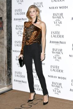 ROSIE HUNTINGTON-WHITELEY IN SAINT LAURENT AT THE HARPER'S BAZAAR WOMEN OF THE YEAR AWARDS