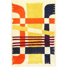 Vintage Scandinavian Rya Rug | From a unique collection of antique and modern russian and scandinavian rugs at https://www.1stdibs.com/furniture/rugs-carpets/russian-scandinavian-rugs/