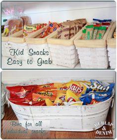Dicas para guardar snacks e lanchinhos das crianças