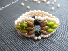 Ring with beads SuperDuo  tutorial