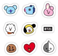 'BTS Faces' Sticker by oohfluff Pop Stickers, Face Stickers, Tumblr Stickers, Printable Stickers, Planner Stickers, Kpop Diy, Bts Birthdays, K Wallpaper, Bts Merch